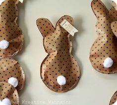 stitched paper bunny packages- adorable