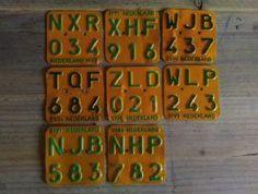 Oud Vintage Bromfietsplaatje Groen