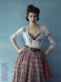 Elle Brazil Oct 2010 - vintage inspired editorial