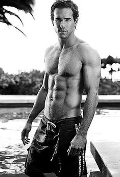 I don't care that this topless pic of Ryan Reynolds is in black and white because all of my dreams are in color! Liquid Diet Plan, Hot Men, Sexy Men, Hot Guys, Ryan Reynolds Shirtless, Shirtless Men, To My Future Husband, Hottest Male Celebrities, Celebs