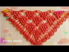 Chal a crochet # 2 tejido en punto pavo real a crochet o ganchillo paso a paso - CHAL crocheting - YouTube