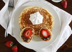 Bunny butt pancakes - A cute Easter breakfast/brunch recipe!  Please follow my Pinterest boards!