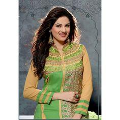 Eid Collection Designer Green  Pure Atlanta Georgette Party Wear  A-Line Salwaar  Suit-SDS385CL(ARTI -Pooja)