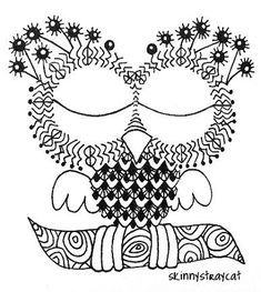 Owl Embroidery Pattern Color In Page
