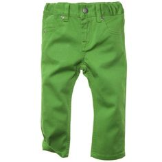 Green skinny jeans for baby.  Lovely when paired with those green and pink mary janes!