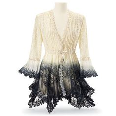 Ombre Lace Peplum Jacket - Women's Clothing & Symbolic Jewelry – Sexy, Fantasy, Romantic Fashions