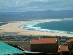 A view from the top of Jefferys Bay, South Africa.