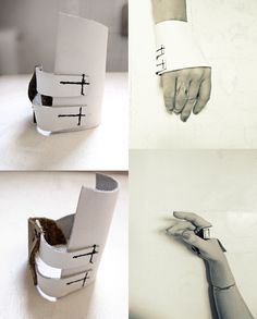 #White #leather, short, fingerless, unisex #gloves #rannka