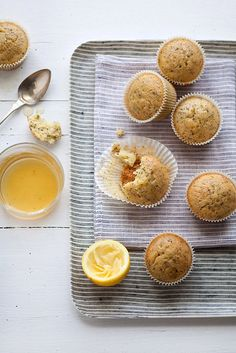 soaked lemon, poppy seed and olive oil cakes