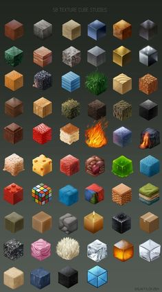 58 texture studies, Malin Falch on ArtStation at… Isometric Art, Isometric Design, Texture Drawing, Texture Painting, Digital Painting Tutorials, Art Tutorials, Drawing Techniques, Drawing Tips, 8 Bits