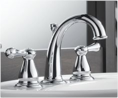 Delta 3575lf Leland Two Handle Widespread Bathroom Faucet Chrome From  Chrome Bathroom Fixtures