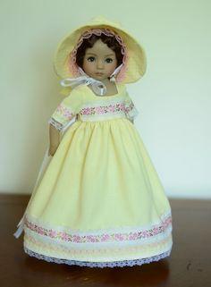 """""""Sense & Sensibility: Lemon"""" Regency Dress for 13"""" Dianna Effner Little Darling #Luminaria"""