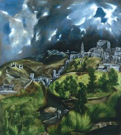 View of Toledo El Greco c.1596-1600  This one stirs something in me because I've been to Toledo and loved it & I've seen this original painting. By visiting Toledo, I appreciate El Greco more.
