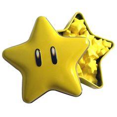 Nintendo Super Mario Super Star Candy in Tin Mario Star, Mario Bros., Mario Party, Nintendo, Yoshi, Super Mario Bros Games, Confectioners Glaze, Classic Board Games, Hard Candy