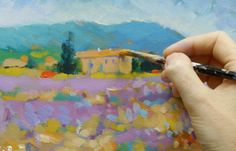 How to paint like Monet: Acrylic Landscape Painting Lesson - Part 4 (Video)