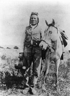 """""""Curley,"""" one of Custer's Crow Indian scouts and reputed Sole survivor of the Battle of the Little Big Horn."""