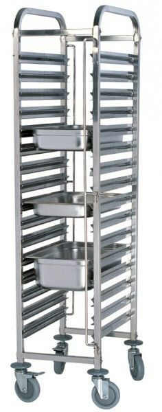 Stainless Steel 15 Tier 1/1 GN Trolley