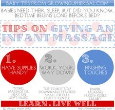 Tips On Giving An Infant Massage | GrowingUpHerbal.com | 3 steps to giving the perfect massage to your baby.