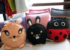 Cuscini animale realizzati in feltro