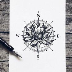 ▷ 1001 + lotus flower tattoo ideas and its symbolism - compass tattoo design, . - ▷ 1001 + lotus flower tattoo ideas and its symbolism – compass tattoo design, woman spine tatto - Tattoo Roman, Lotusblume Tattoo, Mandala Tattoo, Tattoo Spine, Chest Tattoo, Tattoo Fonts, Lotis Flower Tattoo, How To Tattoo, How To Draw Tattoos