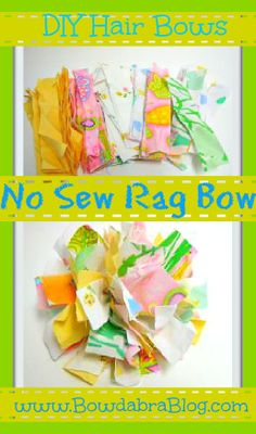 Bowdabra No Sew Rag Bow. This can go on top of a mason jar.