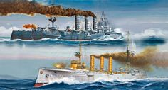 German WWI Light Cruisers SMS Dresden & SMS Emden