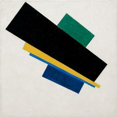 Kazimir Malevich, Suprematism, 18th Construction, 1915, Oil on canvas. Kazimir Severinovich Malevich was a Russian painter and art theoretician. He was a pioneer of geometric abstract art and the originator of the avant-garde, Suprematist movement..