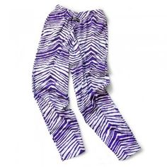 For over 27 years, Zubaz have stood out as the ultimate example of crazy style and comfort. Experience our awesome Zubaz zebra print pants in purple!