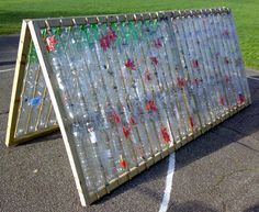 Plastic Bottle greenhouse - roof section only. Would work on a smaller scale cold frame or greenhouse box.
