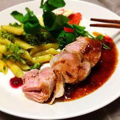 """シロー's dish photo 豚ヘレコンフィ """"一食分の袋コンフィ レシピ"""" #SnapDish #レシピ"""