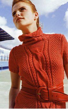Пуловер с короткими рукавами 2