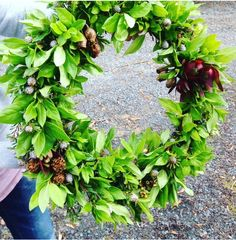 Christmas Wreath decorations Art For Sale, Christmas Wreaths, Floral Wreath, Earth, Decorations, Studio, Flowers, Red, Home Decor