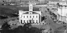 """Kon Tatsis on LinkedIn: """"The clock at the port of Piraeus -Greece in Greece Pictures, Old Pictures, Old Photos, Vintage Photos, Old Greek, Athens, Paris Skyline, Mansions, History"""