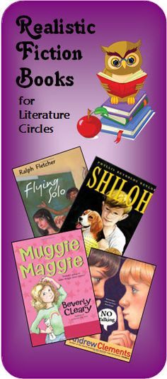 Realistic fiction is a popular genre for Literature Circles because kids can relate to them. Visit this page on Laura Candler's Teaching Resources to read recommendations of great realistic fiction books for upper elementary and middle school students. Literature Circles, Children's Literature, Book Activities, Teaching Resources, Teaching Ideas, 6th Grade Reading, Realistic Fiction, Library Lessons, Math Lessons