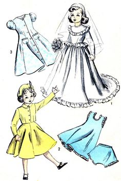 1940s Advance 5002 Doll Clothes for 15 Inch Doll by paneenjerez, $12.00