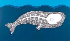Blu Mama by Hackatao  Printable #Poster #Art #Whale #Animal