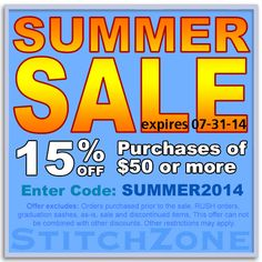 StitchZone Summer Sale 15% OFF purchase of $50 and more expires: 07-31-14 Enter Code: SUMMER2014 #stitchzone #greekclothing #discounts #sales #greeklife #fraternity #sorority #summer