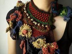 Image result for black crochet flowers