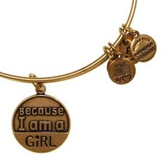 Thanks to Alex and Ani for creating this awesome bangle in support of Because I am a Girl!