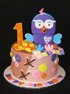 Hootabelle Cake 2nd Birthday Parties, Birthday Cakes, Girl Birthday, Beautiful Cakes, Amazing Cakes, Owl Cakes, Fancy Cakes, Cake Art, Cake Ideas
