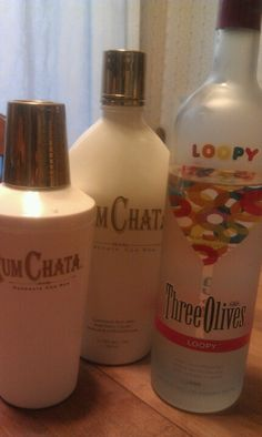 Loopy! Taste just like Fruit Loops! 2 parts Loopy Three Olives and 1 part Rum Chata, mix in shaker with ice and enjoy!