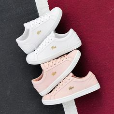Lacoste Shoes Women, Lacoste Sneakers, Adidas Shoes Women, Women's Sneakers, Lacoste Clothing, Jordan Shoes Girls, Girls Shoes, Sneakers Fashion, Fashion Shoes