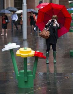 Sydney's urban jungle transformed into a Lego forest