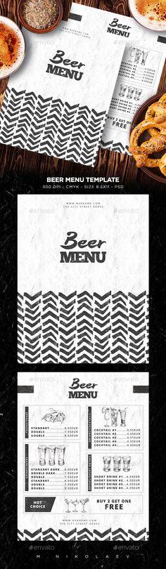 Classic Menu Print templates, Menu and Template - bar menu template