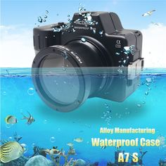 319.98$  Buy now - http://alikus.worldwells.pw/go.php?t=32690269058 - Mcoplus Alloy Manufacturing Waterproof Case for Sony A7S Camera 100M/325ft Underwater Camera Diving Housing Bag 319.98$