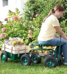 11 Best Rolling Garden Carts Seats Amp Stools Images