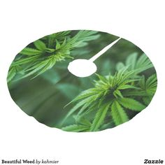 Beautiful Weed Brushed Polyester Tree Skirt