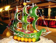 Fruit Carving - Vegetable Carving - Watermelon ship - Get Creative! Fruit & Vegetable Art | Blog | GirlyBubble