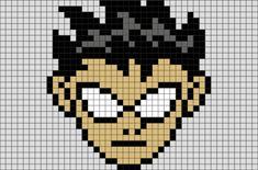 Teen Titans Robin Pixel Art