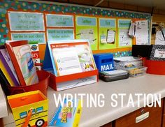 Daily 5 Work on Writing Station - how I set up and organize my work on writing station